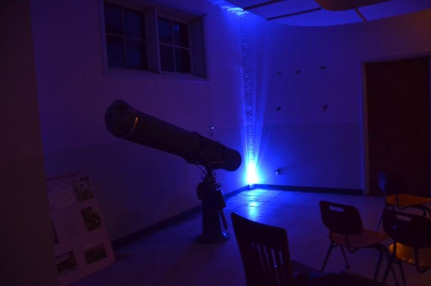 Telescope under black light